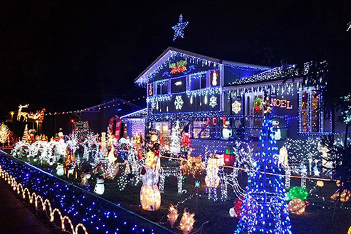 Christmas Light Displays.Video And Map Christmas Light Displays In Surrey And Beyond