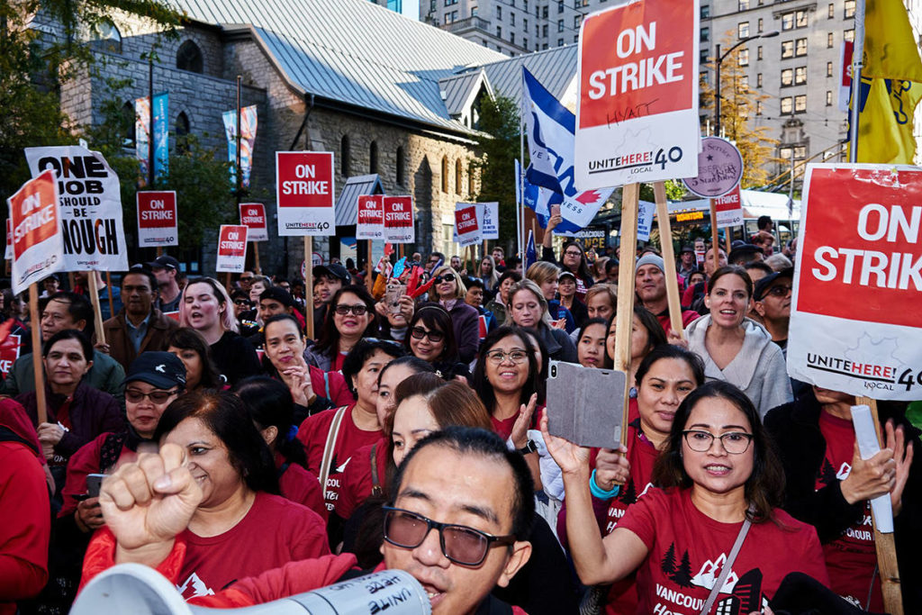 Striking Vancouver hotel workers, employer reach 'tentative' agreement - North Delta Reporter